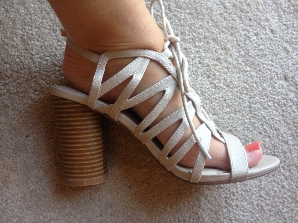 Red Herring Cut Out Sandals