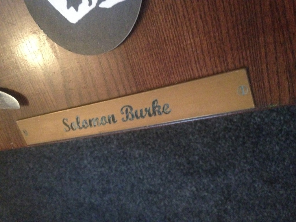 Solomon Burke Table