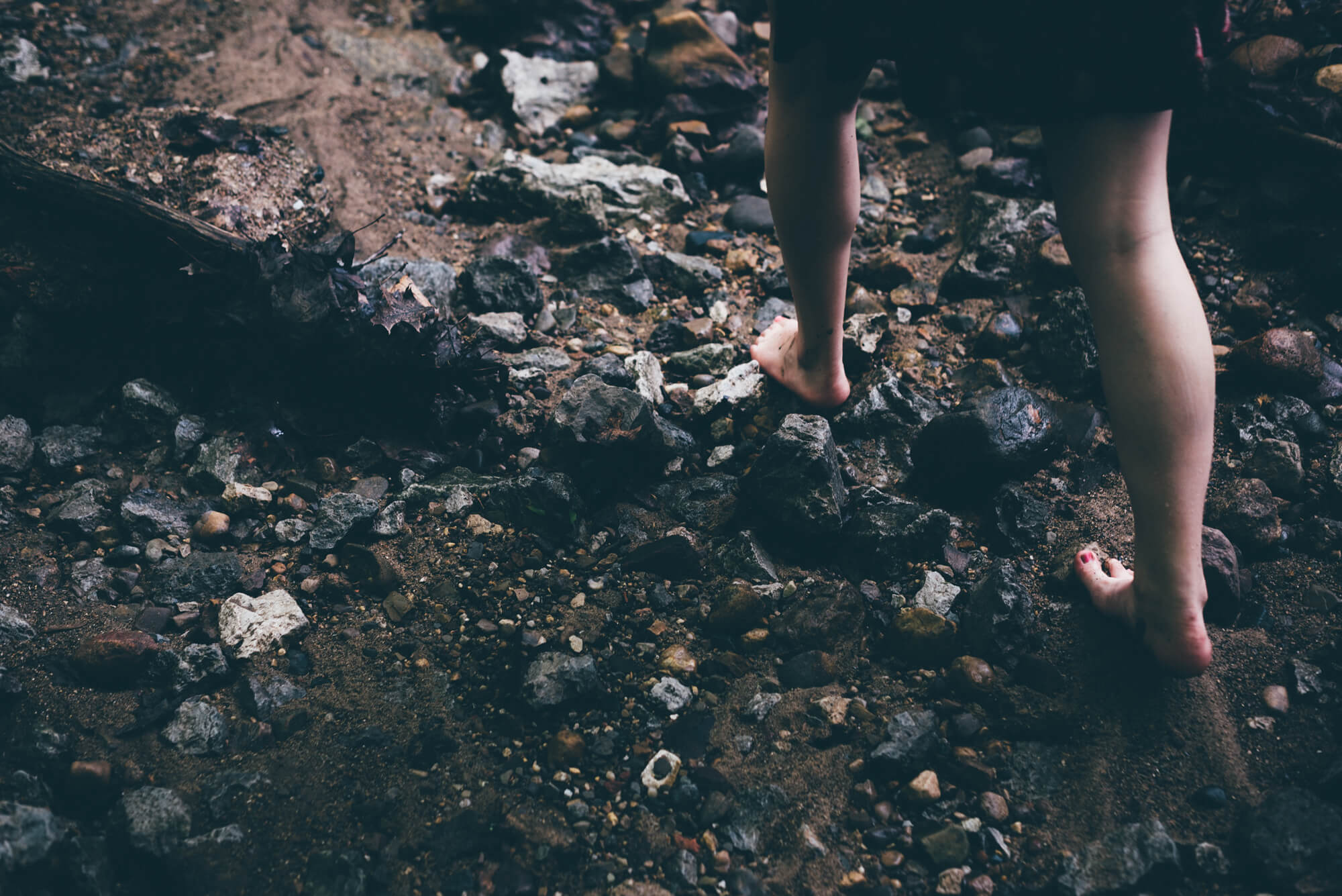 running barefoot