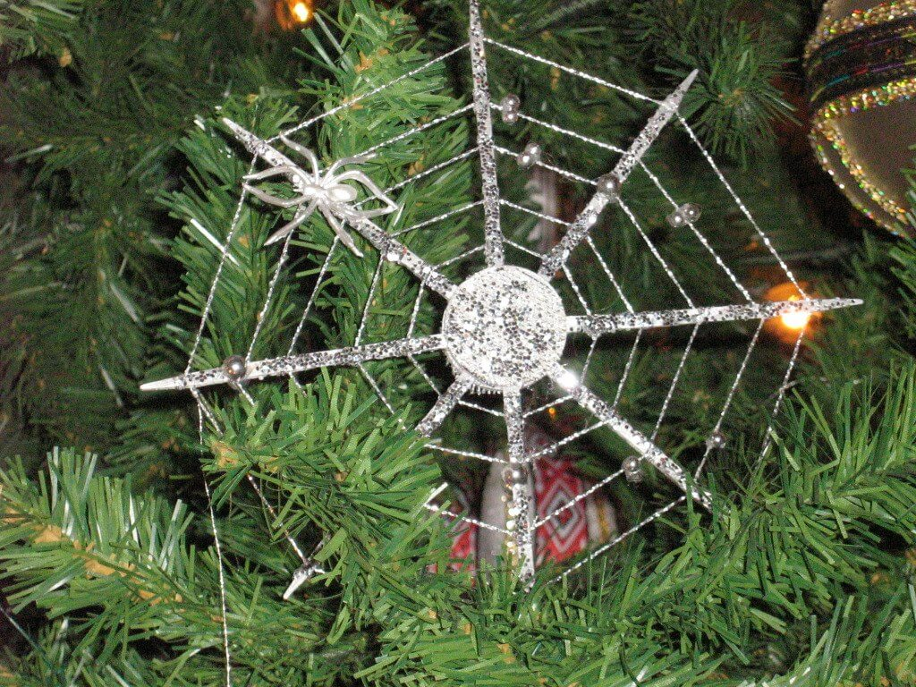 Christmas spider web