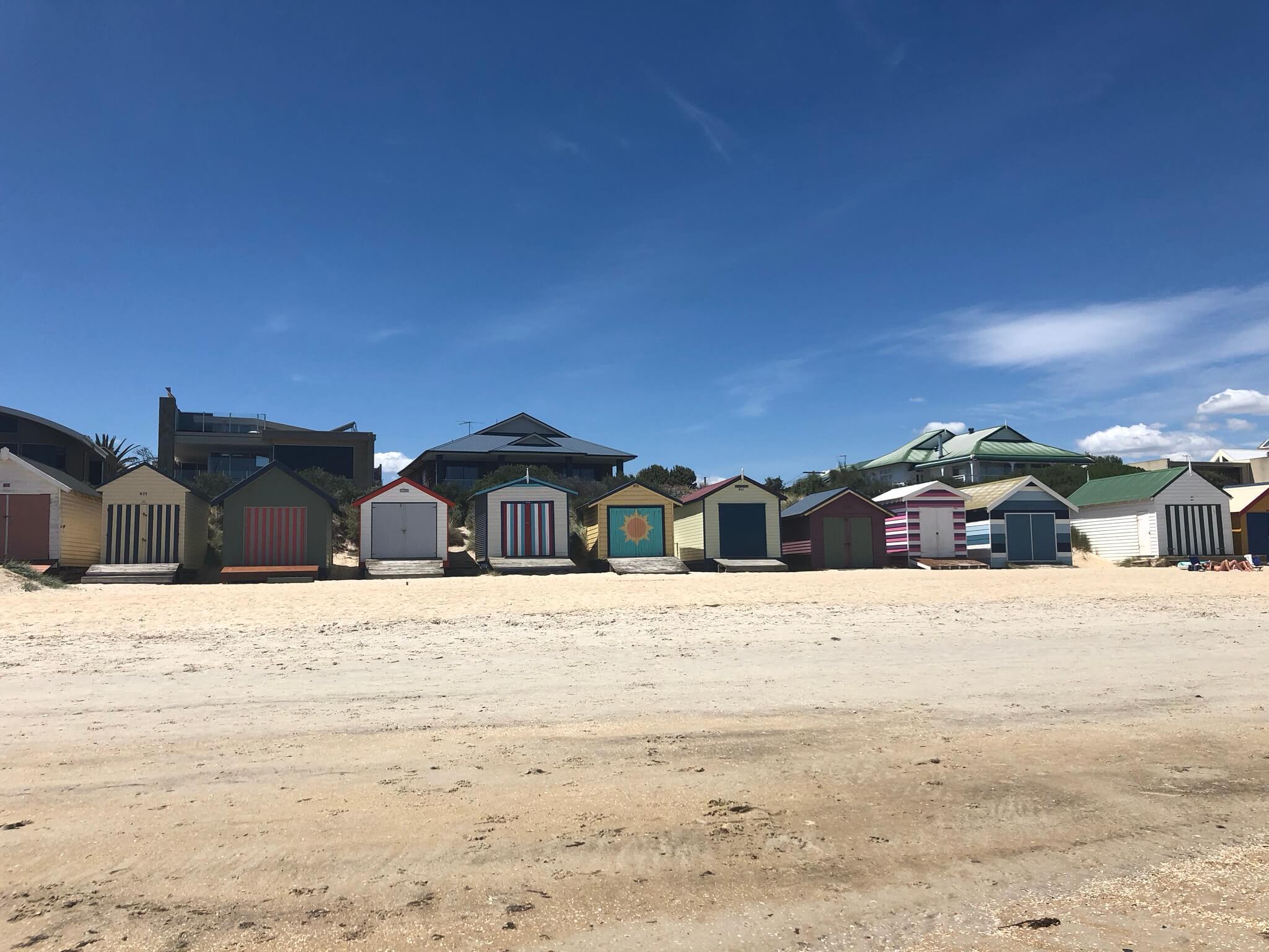 Chelsea beach huts