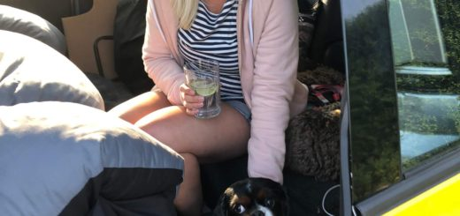 Chilling in the camper van