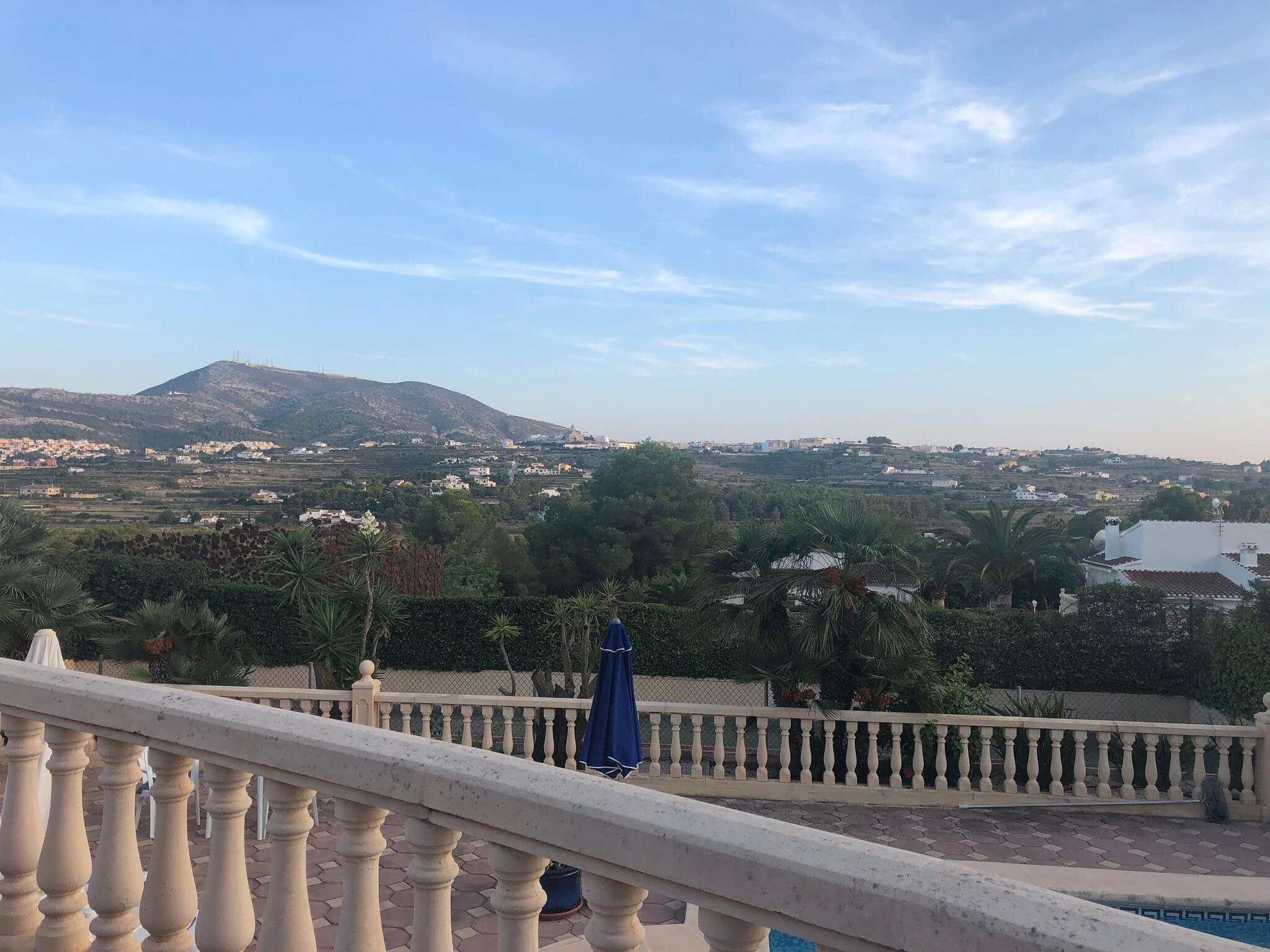 Javea villa views
