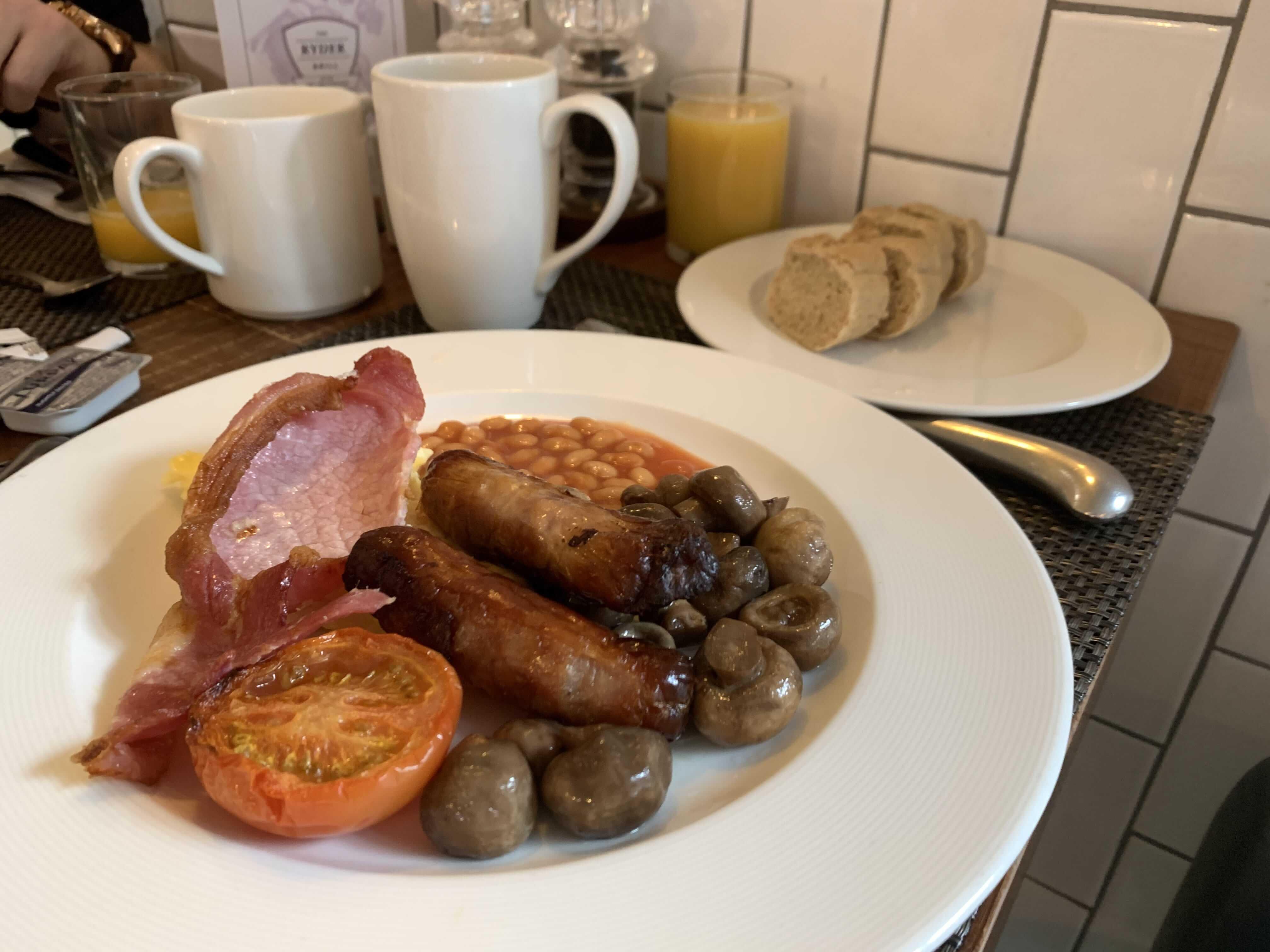 The Belfry breakfast