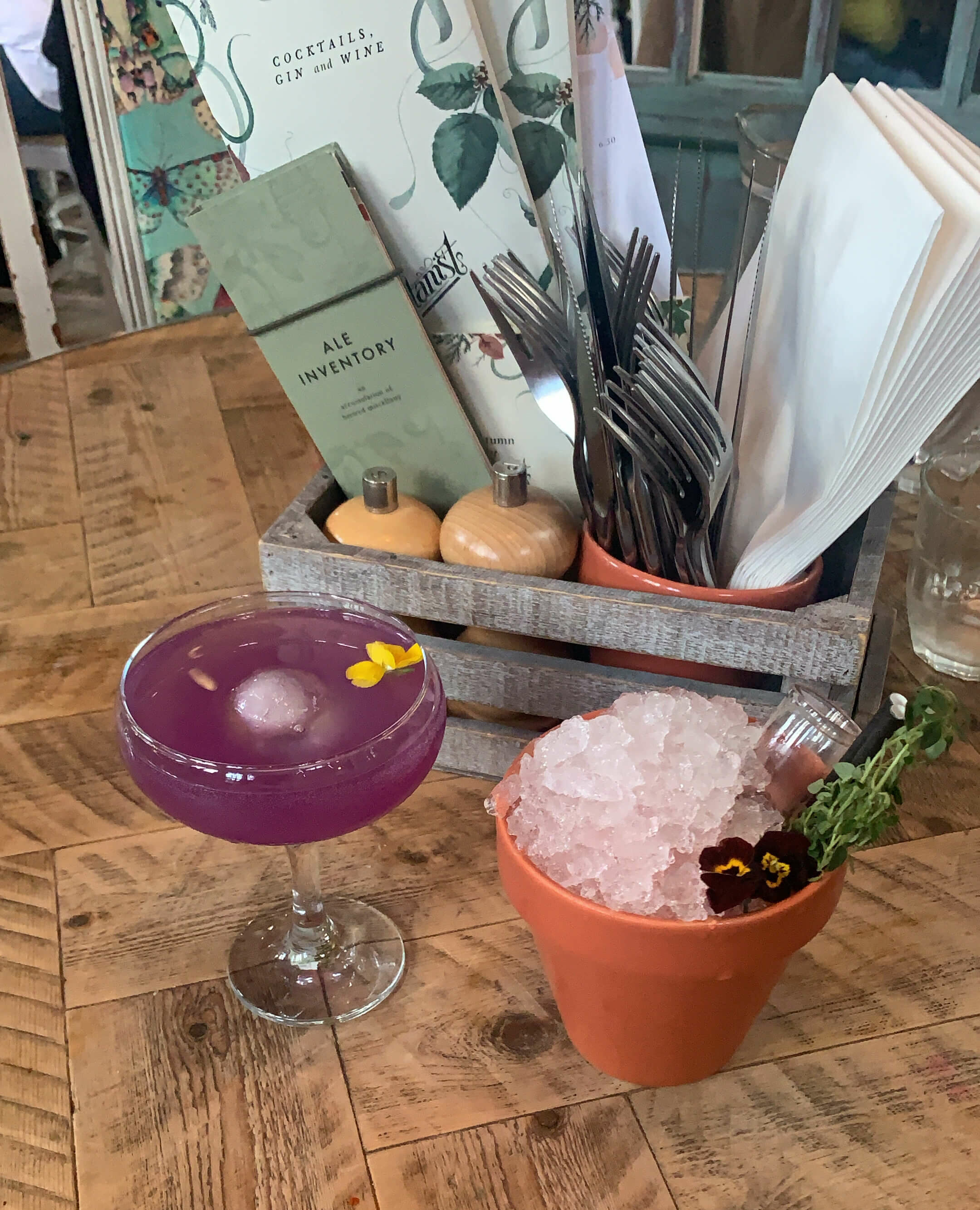Cocktails at The Botanist