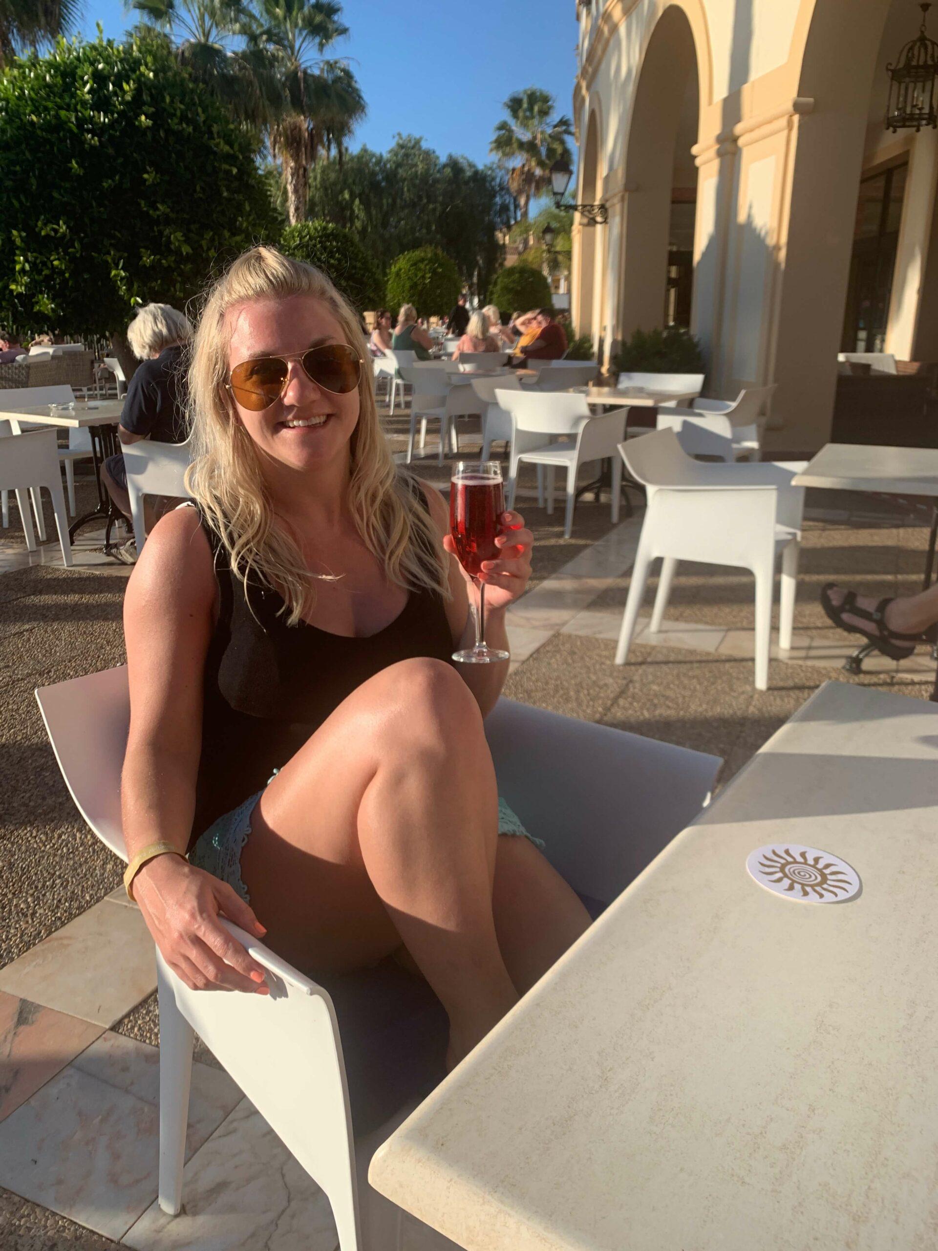 Evening drinks in Tenerife