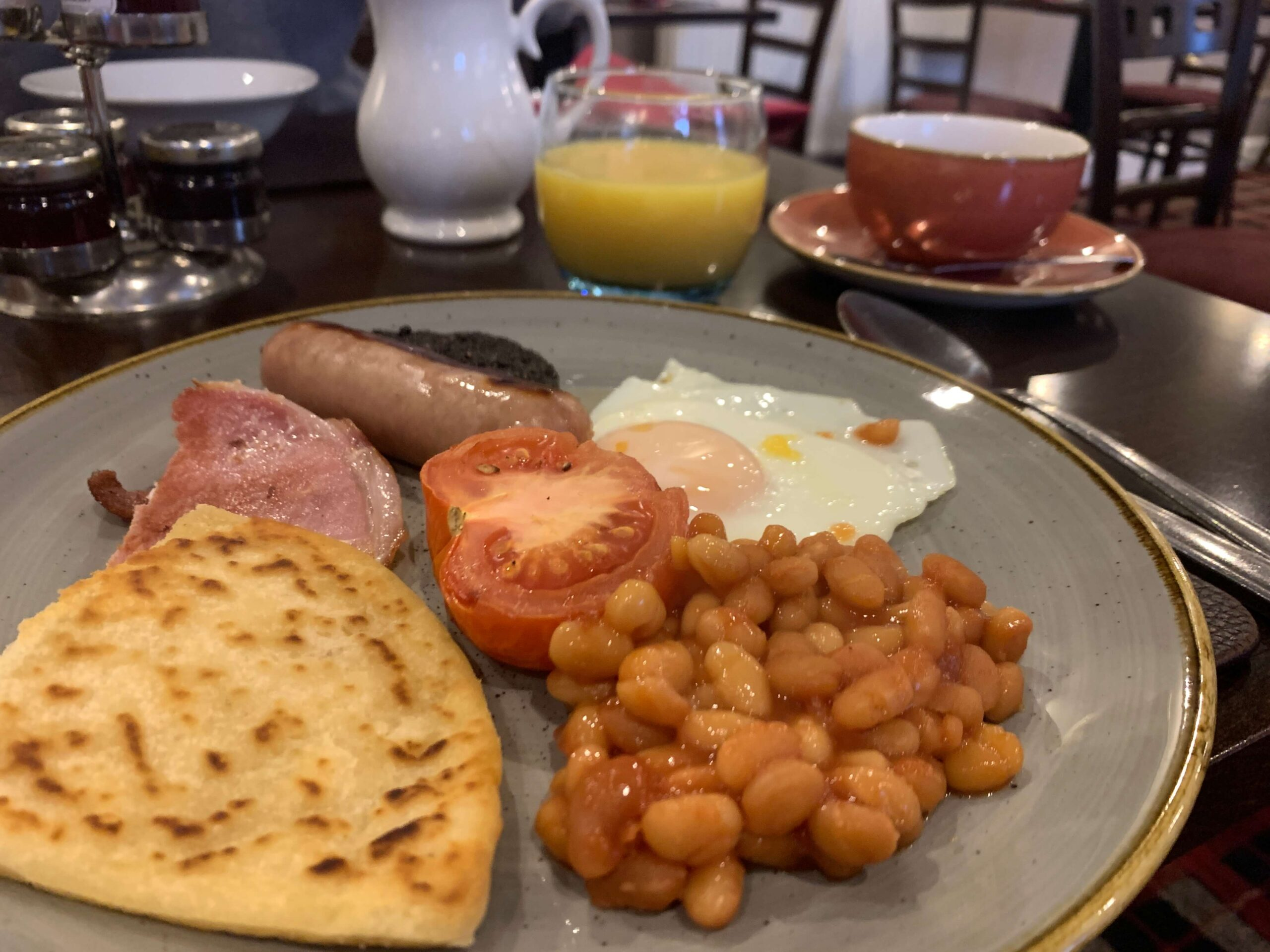 Cooked breakfast at The Elphinstone