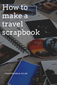 How to make a travel scrapbook pin