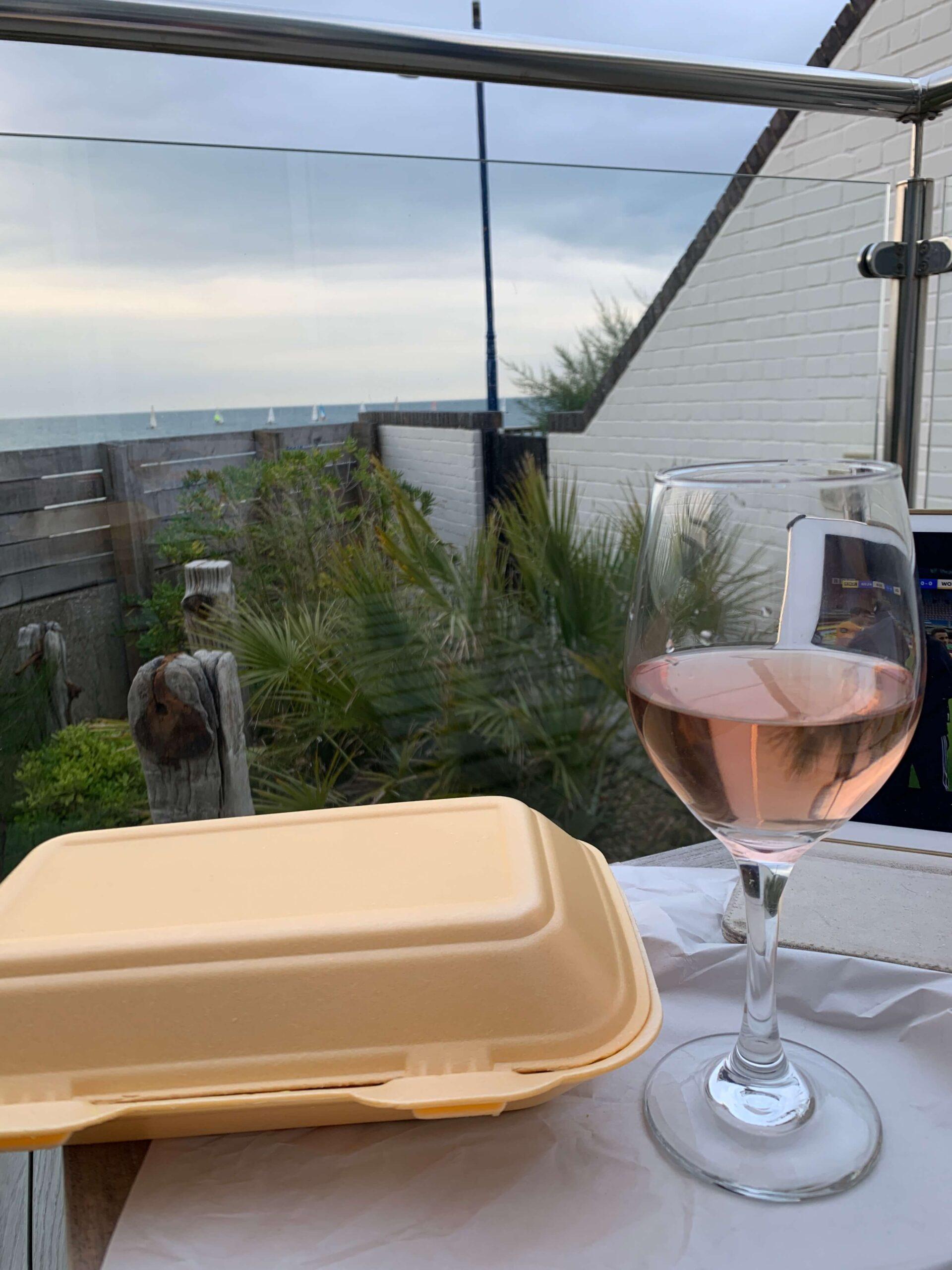 Takeaway on the terrace