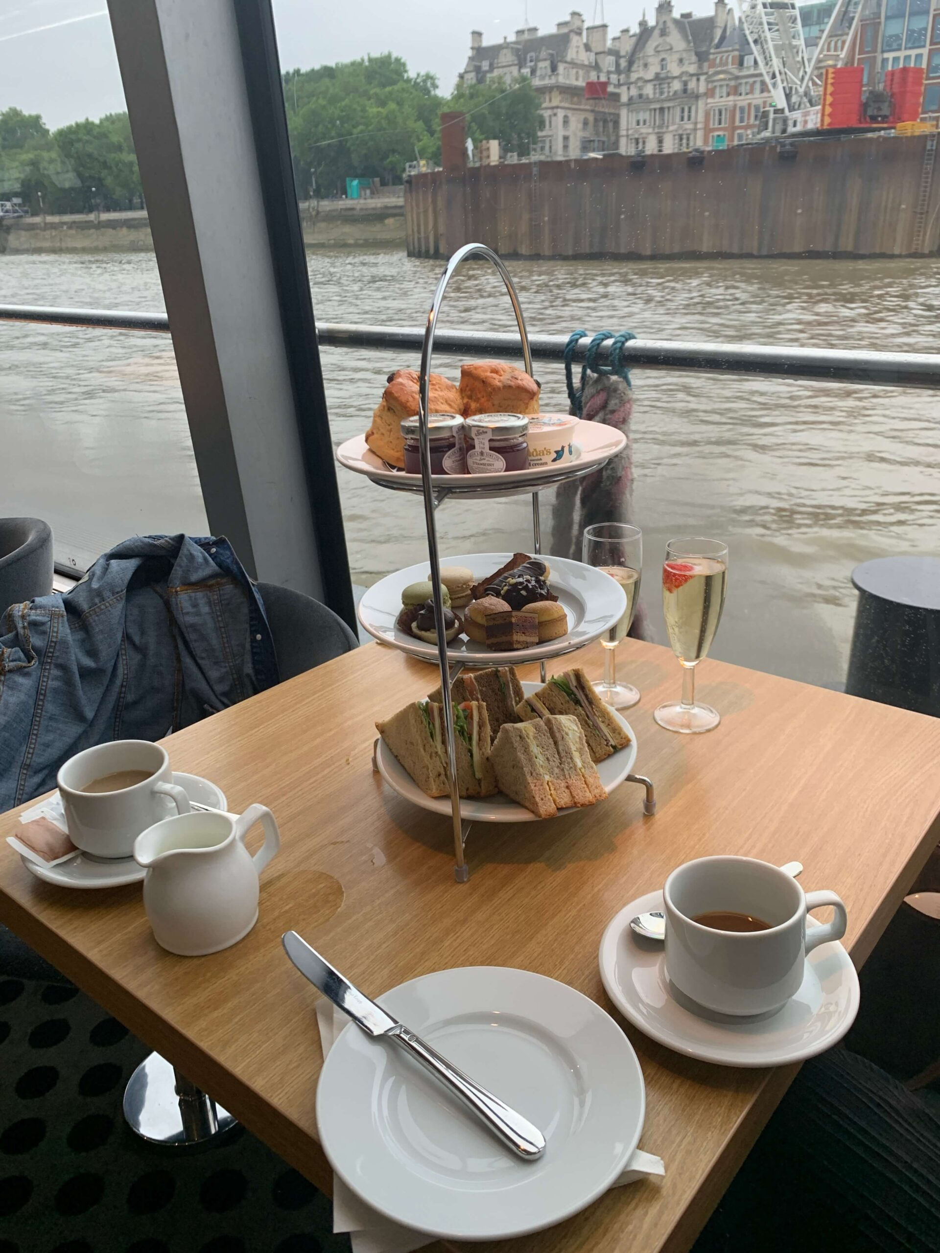 Afternoon tea on the Thames