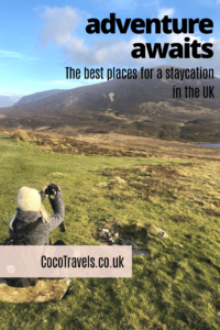 UK staycations pin
