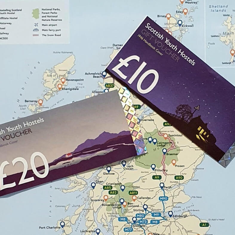 Hostelling Scotland Gift Vouchers