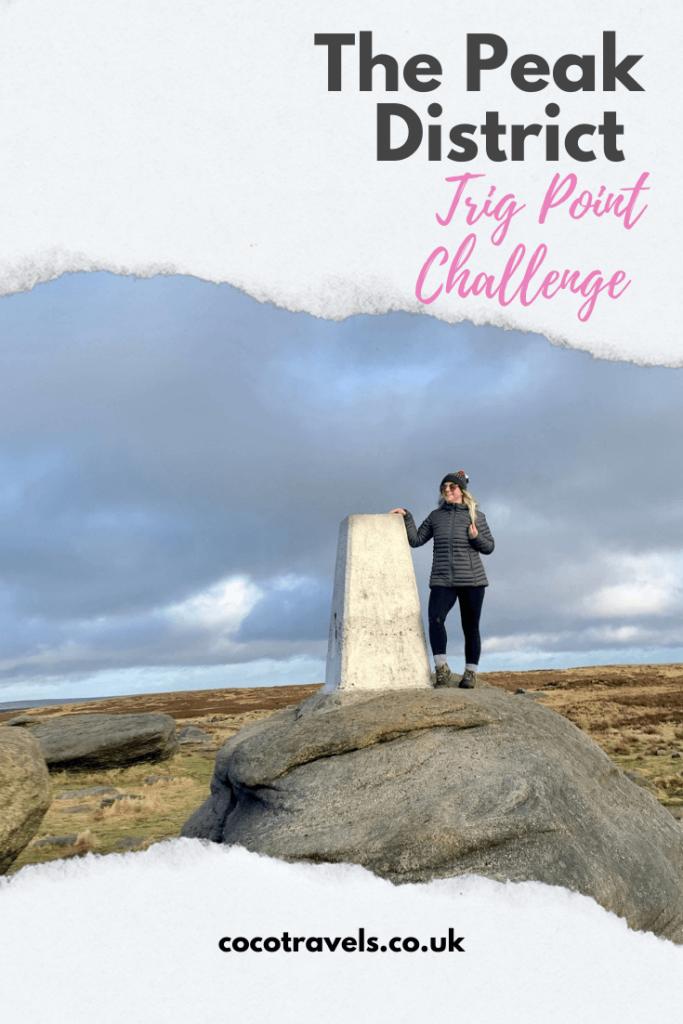 Peak District trip point challenge pin